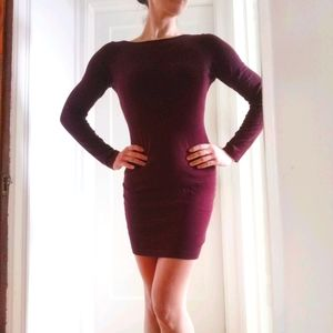 *free add-on* Purple Knit Bodycon Dress